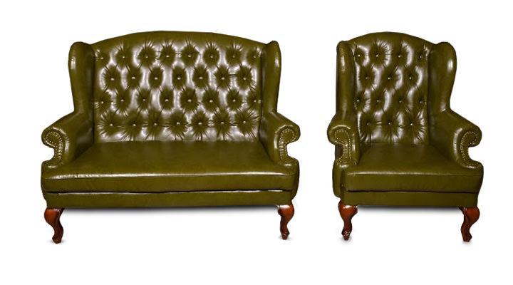 Кожаный двухместный диван Вальтер - 3