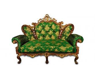 Кожаный двухместный диван Белла