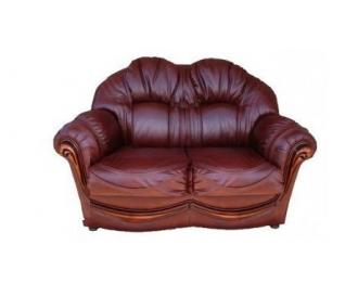 Кожаный двухместный диван Медея
