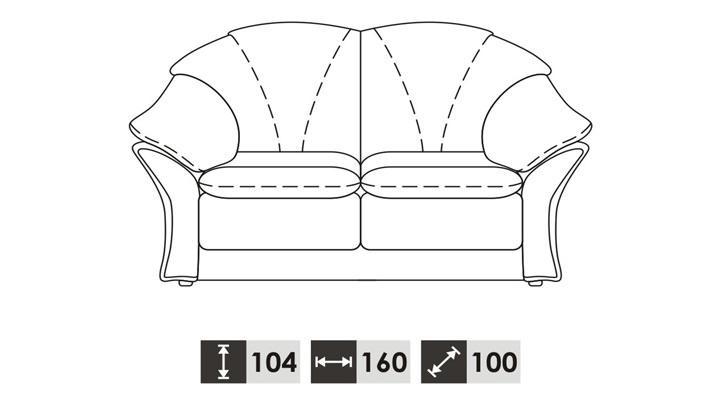 Двухместный диван BOSTON (Бостон) - 3
