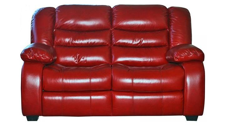 Кожаный двухместный диван Эшли
