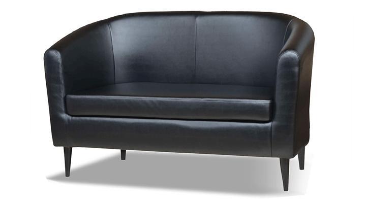 Кожаный двухместный диван Кларк