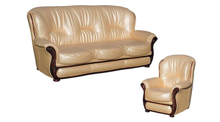 Кожаный диван Плай - 2