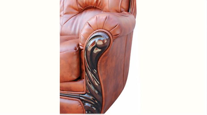Кожаный двухместный диван Плай - 3