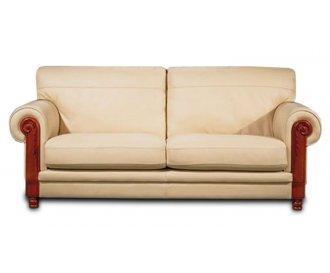 Кожаный двухместный диван Ланселот