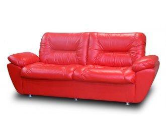 Кожаный двухместный диван Визит с подлокотниками