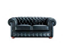 Кожаный двухместный диван Бруно Честер