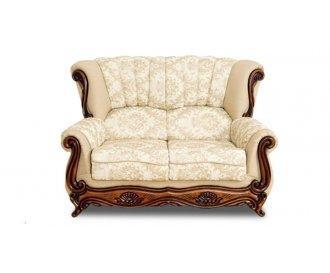 Кожаный двухместный диван Джокер