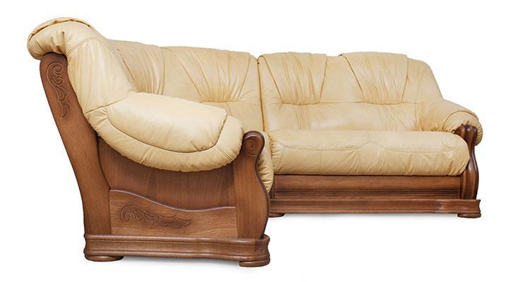 Кожаный угловой диван Барон - 3