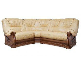 Кожаный угловой диван Барон