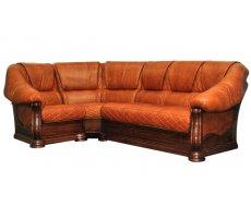 Кожаный угловой диван Маркиз