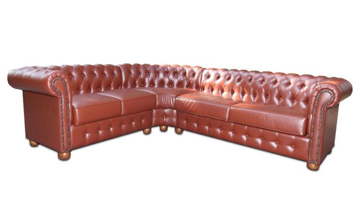 Кожаный угловой диван Сан-Ремо