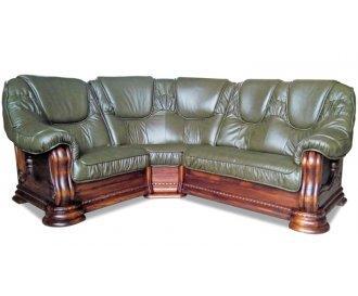 Кожаный угловой диван Гризли 246