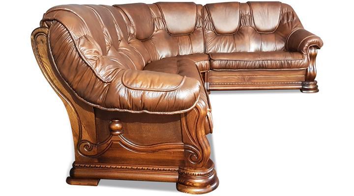 Кожаный угловой диван Гризли 298 - 3