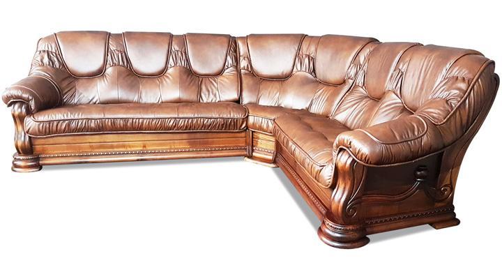 Кожаный угловой диван Гризли 298 - 5