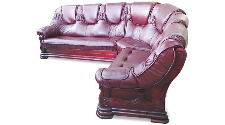 Кожаный угловой диван Гризли 298 - 7