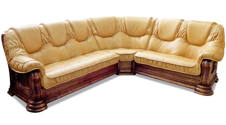 Кожаный угловой диван Гризли 298 - 4