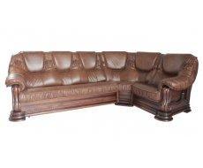 Кожаный угловой диван Гризли