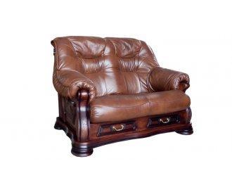 Кожаный двухместный диван Рондо