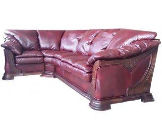 Кожаный угловой диван Грег