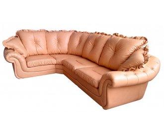 Кожаный угловой диван Брокард