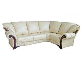 Кожаный угловой диван Майфаер