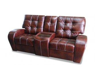 Двухместный диван реклайнер Винс кожаный/экокожа