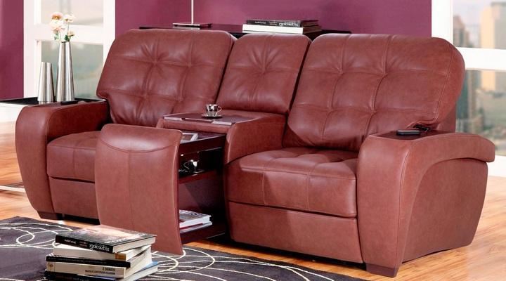 Двухместный диван реклайнер Винс кожаный/экокожа - 2