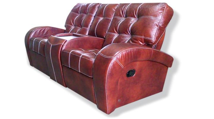 Двухместный диван реклайнер Винс кожаный/экокожа - 3