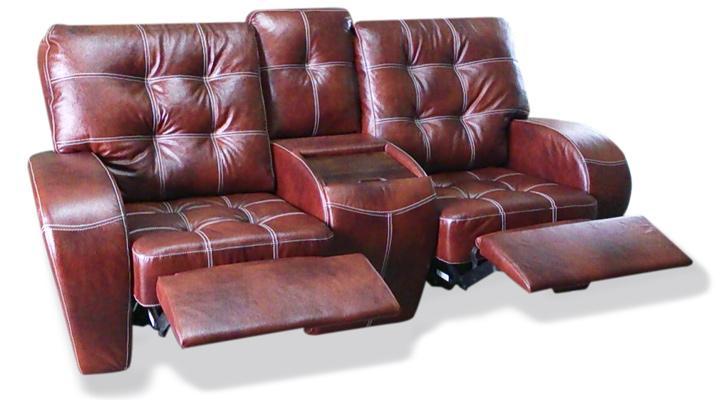 Двухместный диван реклайнер Винс кожаный/экокожа - 4