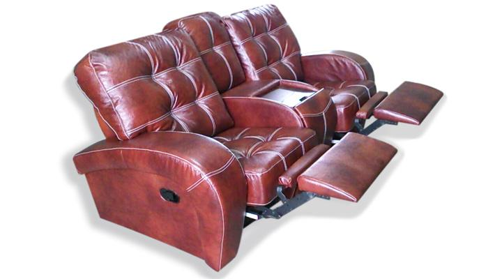 Двухместный диван реклайнер Винс кожаный/экокожа - 5