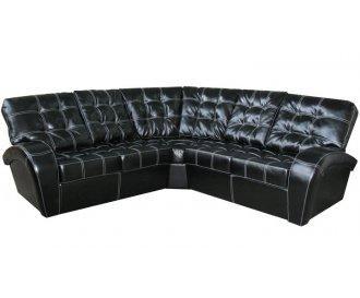 Угловой диван реклайнер Винс кожаный/экокожа