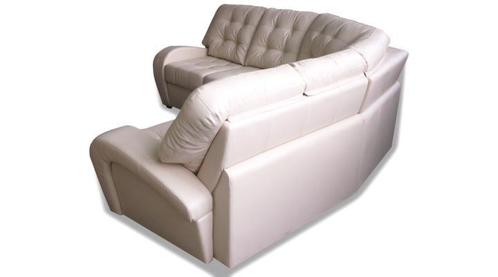 Угловой диван реклайнер Винс кожаный/экокожа - 7