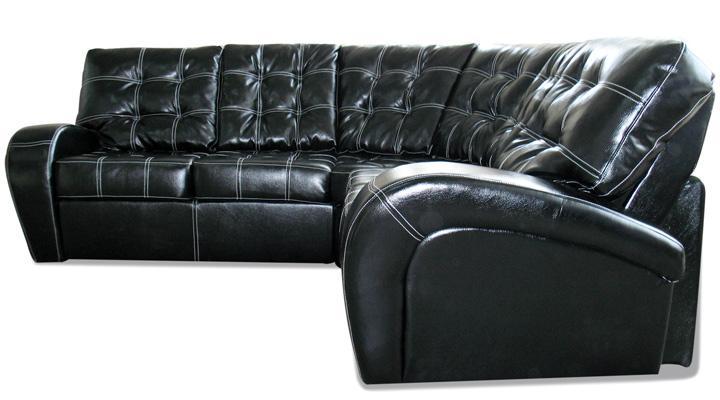 Угловой диван реклайнер Винс кожаный/экокожа - 2