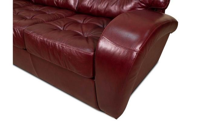 Угловой диван реклайнер Винс кожаный/экокожа - 5