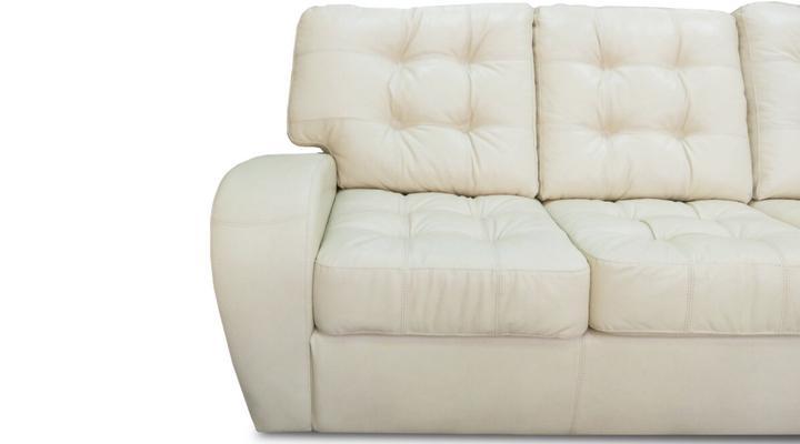 Кожаный/экокожа диван реклайнер Винс с оттоманкой - 4