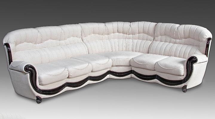 Кожаный угловой диван Джове - 5
