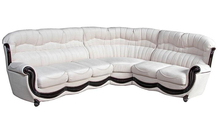 Кожаный угловой диван Джове