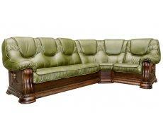 Кожаный угловой диван Гризли 340