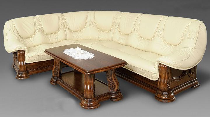 Кожаный угловой диван Гризли 340 - 4