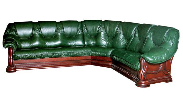 Кожаный угловой диван Гризли 340 - 2
