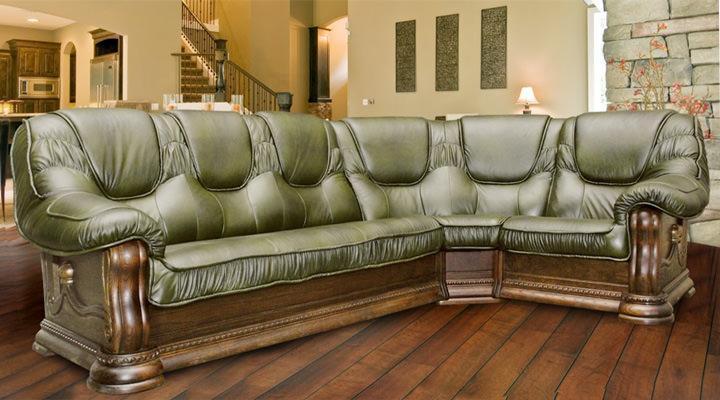 Кожаный угловой диван Гризли 340 - 6
