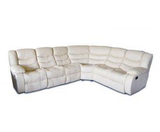 Кожаный угловой диван Реган