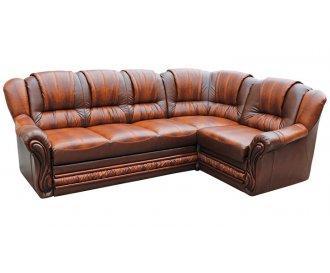 Кожаный угловой диван  Данко