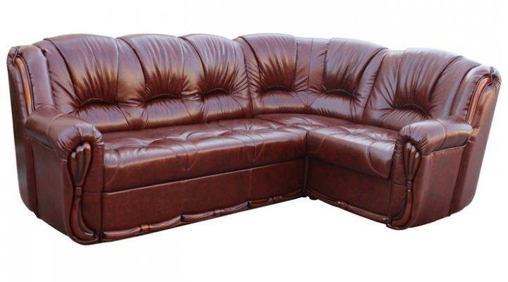Кожаный угловой диван Галич