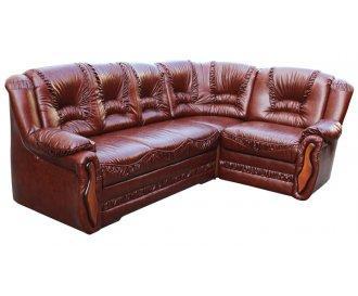 Кожаный угловой диван Васко