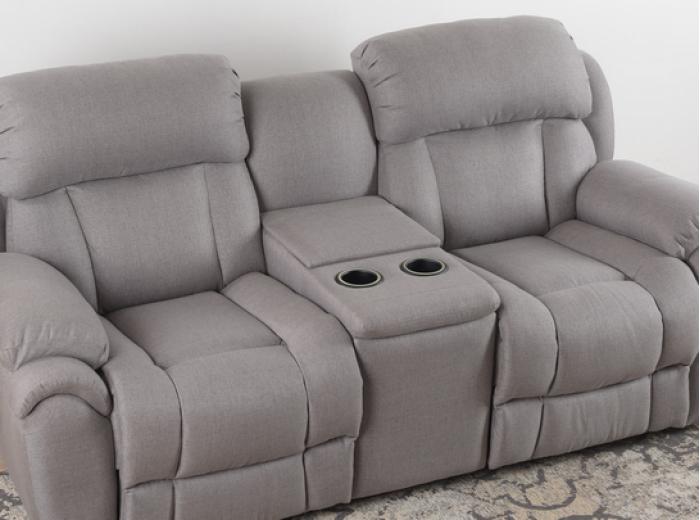 Кожаный диван Бостон с реклайнером