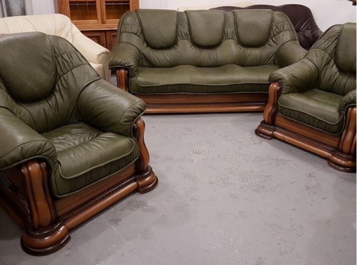 Кожаный диван Гризли (собственное производство)