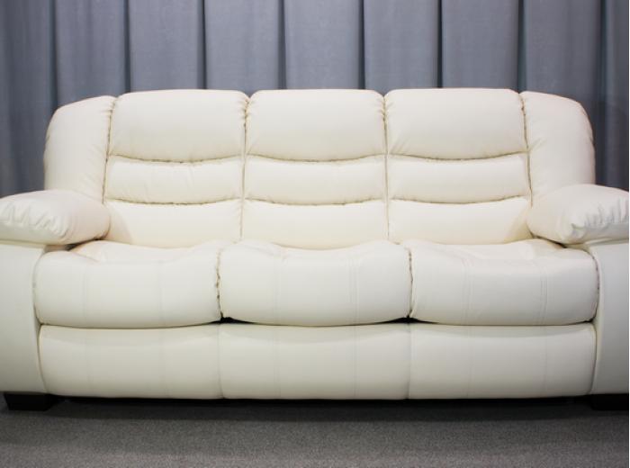 Кожаный трехместный диван Манхэттен с 3 реклайнерами
