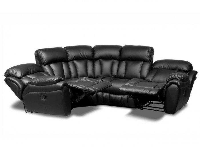 Угловой диван Бостон с двумя реклайнерами